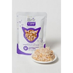 Brit Care Cat kapsa KITTEN Chicken & Cheese Pouch 80g