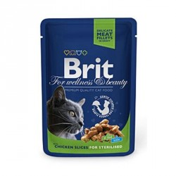 Brit Premium Cat kapsa Chicken Slices for Steril 100g