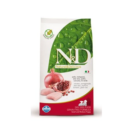 N&D Grain Free DOG Puppy S/M Chicken & Pomegr 12kg (DOPRAVA ZDARMA)